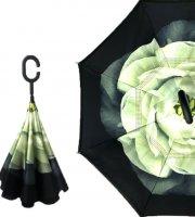 Fordított esernyő mintával Virág minta