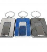 USB-ről tölthető kulcstartó öngyújtó, 1 db karikával, díszdobozban