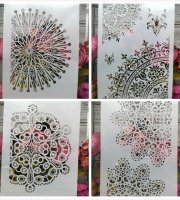 Festősablon 4 db Mandala minták