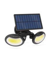 Mozgásérzékelős szolár reflektor - forgatható fejjel - 2 COB LED