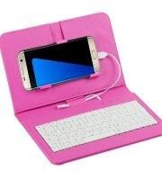 Telefontok billentyűzettel, univerzális telefontok, billentyűzetes mobiltok Rózsaszín