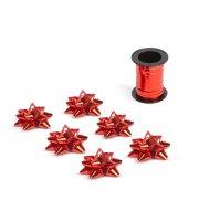 Karácsonyi ajándék szalag és masni - piros