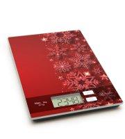 Konyhai mérleg - karácsonyi - piros