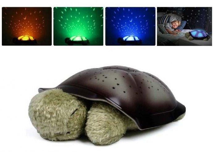 Teknős formájú zenélő ledlámpa gyerekeknek