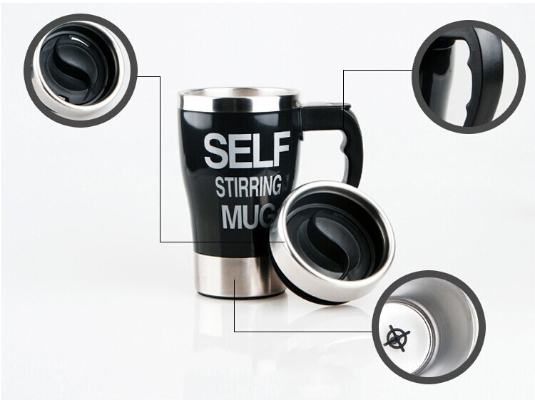 1Pc 2015 Hot Sale Stainless Steel Automatic Electric Lazy Self Stirring Mug Coffee font b Auto