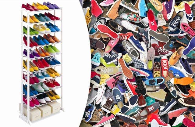 30 férőhelyes cipőtartó