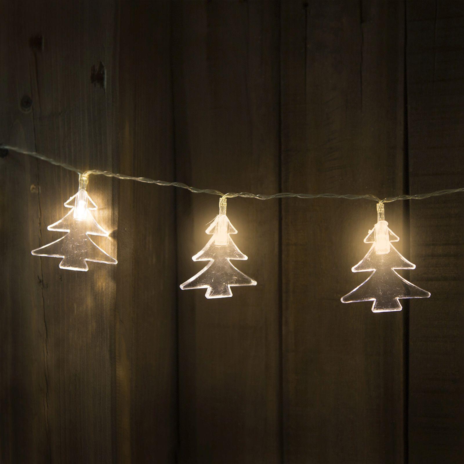 20 LED elemes fényfüzér, fenyő