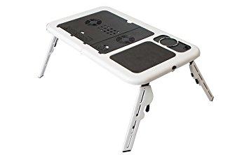 Laptop tartó asztal, 2 db hűtő ventillátorral