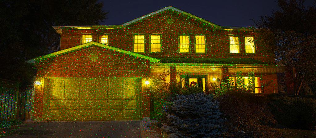 Karácsonyi kerti lézer világítás - távírányítóval