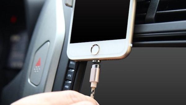 Mágneses töltőkábel, Micro USB és Lightning csatlakozóval